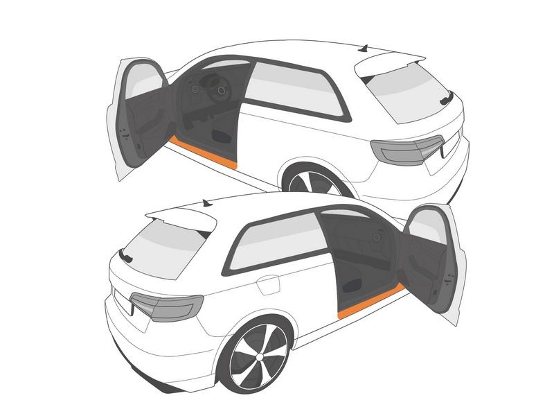 Einstiegsleistenschutzfolie › Transparent Glatt Hochglänzend | 4-teilig für 3-Türer | BMW Z4 Typ G29 ab BJ 03/2019