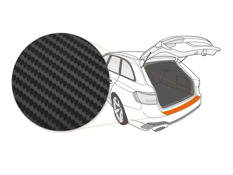 Ladekantenschutzfolie › Schwarz Carbon-Optik Matt | 160 µm stark | BMW 6er Gran Coupé Typ F06 ab BJ 05/2012
