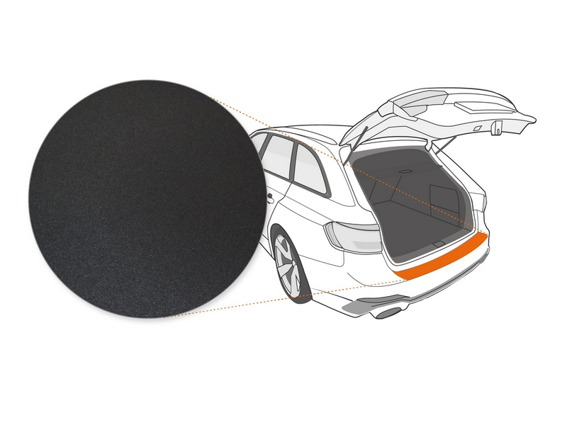 Ladekantenschutzfolie › Schwarz Strukturiert Matt | 190 µm stark | Hyundai ix20 ab BJ 10/2010