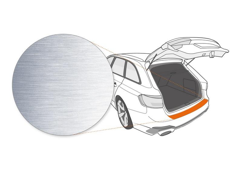 Ladekantenschutzfolie › Silber Gebürstet Matt | 150 µm stark | Mercedes-Benz GLE Typ V167 ab BJ 2019