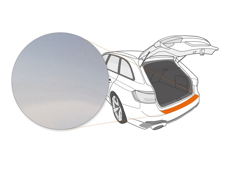 Ladekantenschutzfolie › Silber Glatt Hochglänzend | 110 µm stark | Hyundai i40 ab BJ 2011