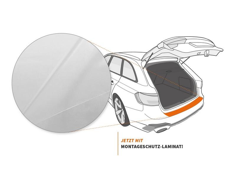Ladekantenschutzfolie › Transparent Glatt Hochglänzend | 240 µm stark | Ford KA (II) Typ RU8 BJ 2008-2016
