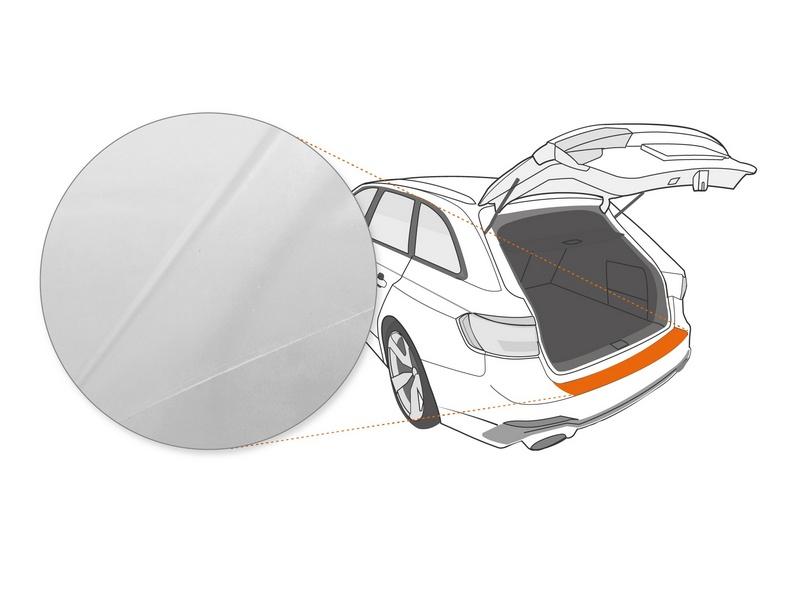 Ladekantenschutzfolie › Transparent Glatt Hochglänzend | 150 µm stark | Ford KA (II) Typ RU8 BJ 2008-2016