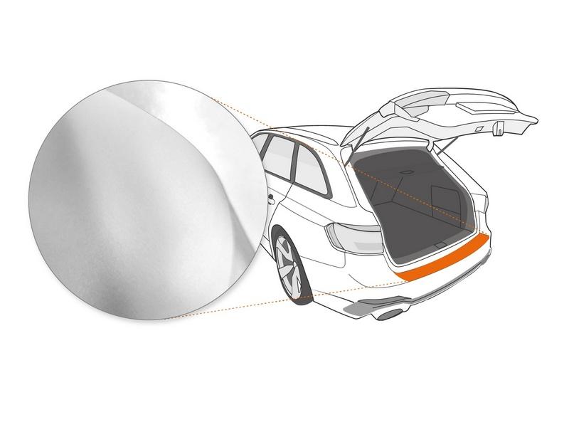 Ladekantenschutzfolie › Transparent Glatt MATT | 110 µm stark | BMW MINI Clubman Typ R55 ab BJ 2007-2015