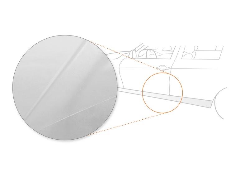Seitenschwellerschutzfolie › Transparent Glatt Hochglänzend | 150 µm stark | BMW 5er Limousine Typ F10 BJ 2010-02/2017