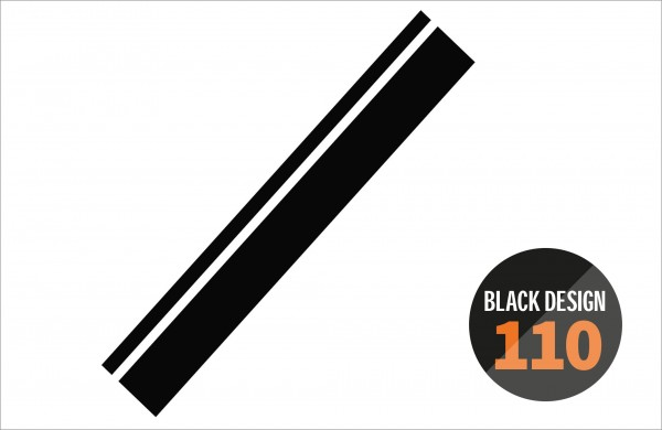 Seitendekor - Laufmeterware - BLACK DESIGN 110 -